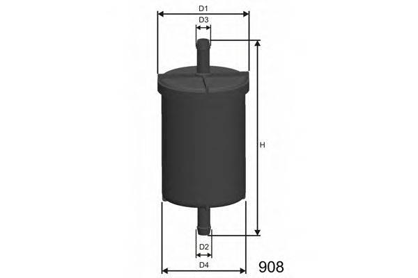 MISFAT E515 Топливный фильтр