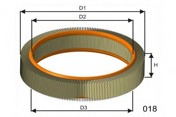 MISFAT P806 Воздушный фильтр