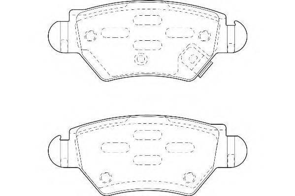WAGNER WBP23052A Комплект тормозных колодок, дисковый тормоз
