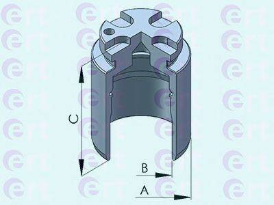 ERT 150984C Поршень, корпус скобы тормоза