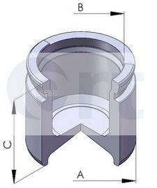 ERT 150282C Поршень, корпус скобы тормоза