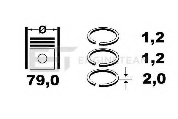 ET ENGINETEAM R1003700 Комплект поршневых колец