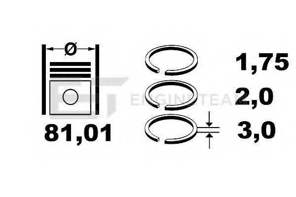 ET ENGINETEAM R1005600 Комплект поршневых колец