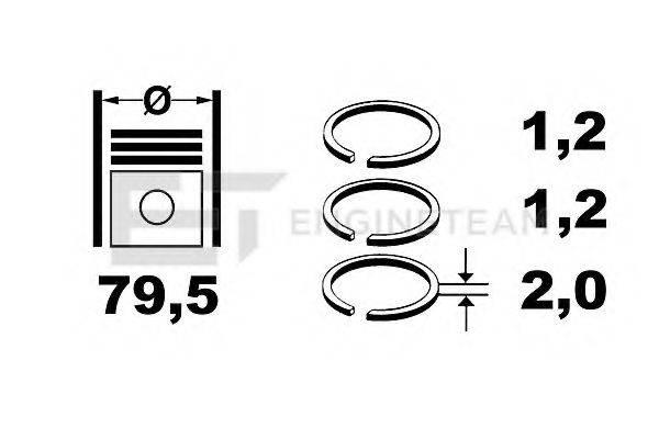 ET ENGINETEAM R1003750 Комплект поршневых колец