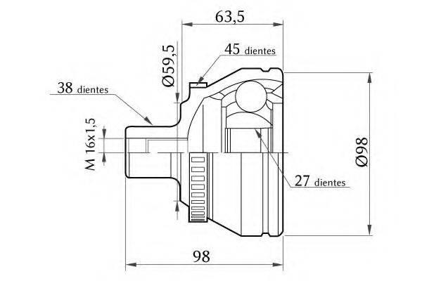 KSM-KOSHIMO 18600068007 Шарнирный комплект, приводной вал