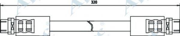 APEC BRAKING HOS3164 Тормозной шланг
