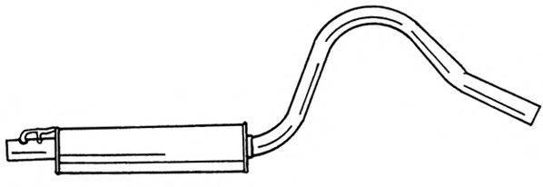 SIGAM 40423 Средний глушитель выхлопных газов