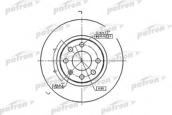 PATRON PBD1625 Тормозной диск