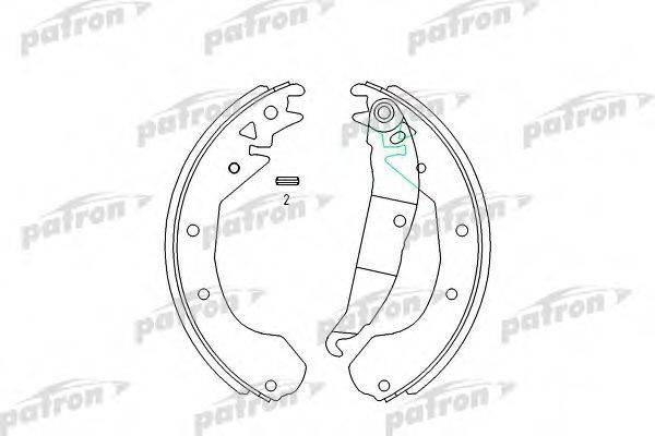 PATRON PSP199 Комплект тормозных колодок