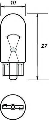 MOTAQUIP VBU504 Лампа накаливания, фонарь указателя поворота; Лампа накаливания, фонарь освещения номерного знака; Лампа накаливания, задний гарабитный огонь; Лампа накаливания, стояночный / габаритный огонь; Лампа накаливания, дополнительный фонарь сигнала торможения; Лампа, мигающие / габаритные огни