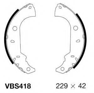 MOTAQUIP VBS418 Комплект тормозных колодок