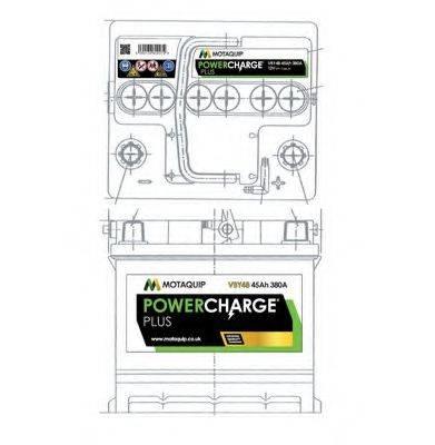 MOTAQUIP VBY48 Стартерная аккумуляторная батарея
