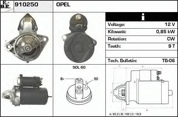 EDR 910250 Стартер