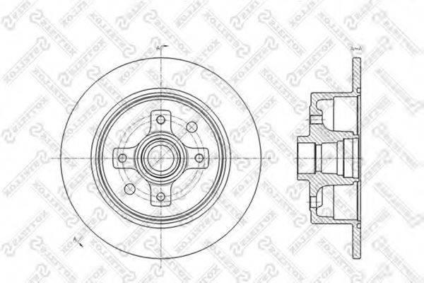 STELLOX 60203616SX Тормозной диск