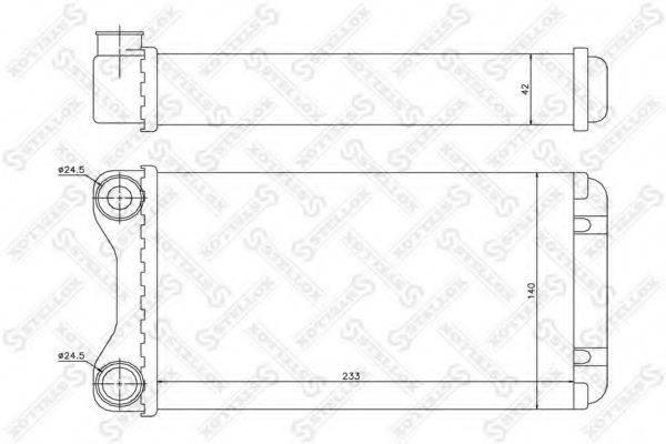 STELLOX 1035102SX Теплообменник, отопление салона