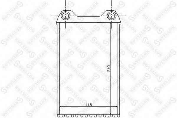 STELLOX 1035152SX Теплообменник, отопление салона