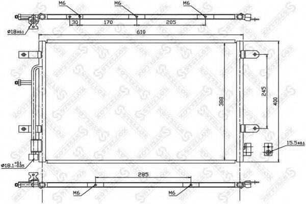 STELLOX 1045179SX Конденсатор, кондиционер