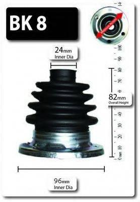 SHAFTEC BK8 Комплект пылника, приводной вал