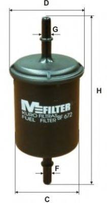 MFILTER BF672 Топливный фильтр