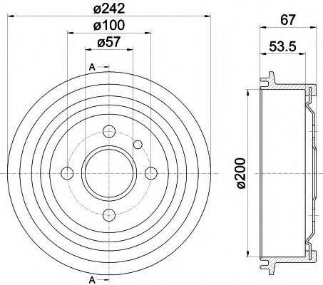 HELLA PAGID 8DT355301171 Тормозной барабан