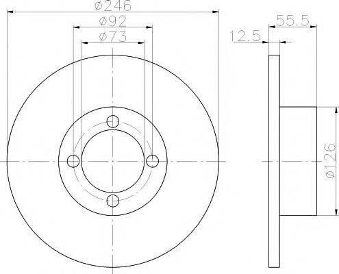 HELLA PAGID 8DD355100141 Тормозной диск