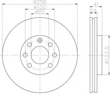 HELLA PAGID 8DD355101491 Тормозной диск