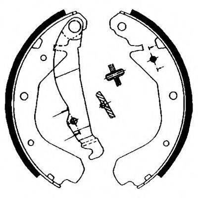 HELLA PAGID 8DB355000621 Комплект тормозных колодок