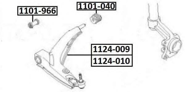 ASVA 1101040 Подвеска, рычаг независимой подвески колеса
