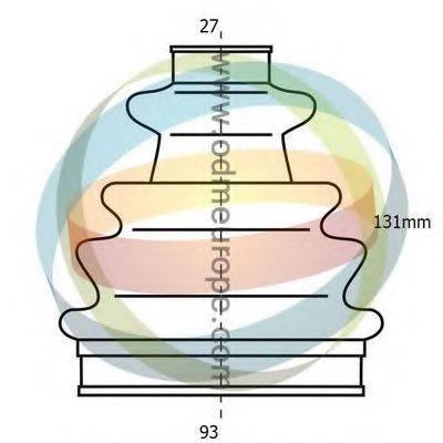 ODM-MULTIPARTS 21990290 Комплект пылника, приводной вал