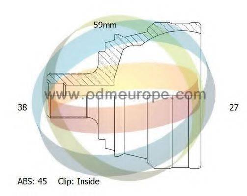 ODM-MULTIPARTS 12211906 Шарнирный комплект, приводной вал
