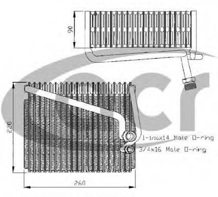 ACR 310128 Испаритель, кондиционер