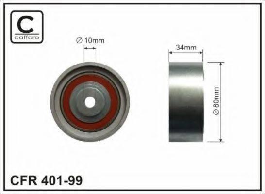 CAFFARO 40199 Паразитный / Ведущий ролик, зубчатый ремень
