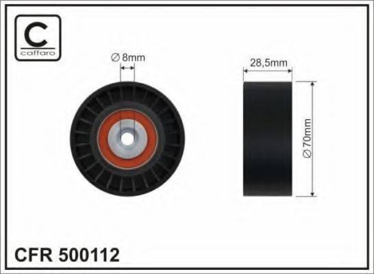 CAFFARO 500112 Паразитный / ведущий ролик, поликлиновой ремень