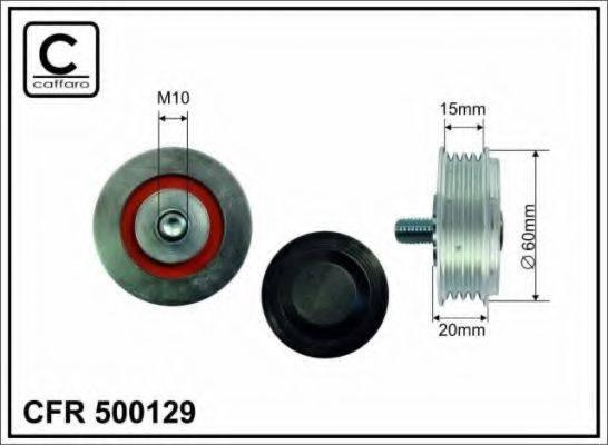 CAFFARO 500129 Натяжной ролик, поликлиновой  ремень