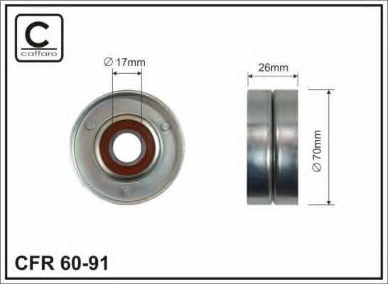 CAFFARO 6091 Натяжной ролик, поликлиновой  ремень