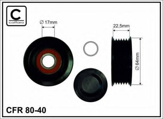 CAFFARO 8040 Паразитный / ведущий ролик, поликлиновой ремень