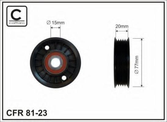 CAFFARO 8123 Паразитный / ведущий ролик, поликлиновой ремень