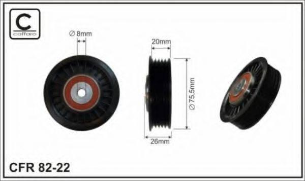 CAFFARO 8222 Натяжной ролик, поликлиновой  ремень