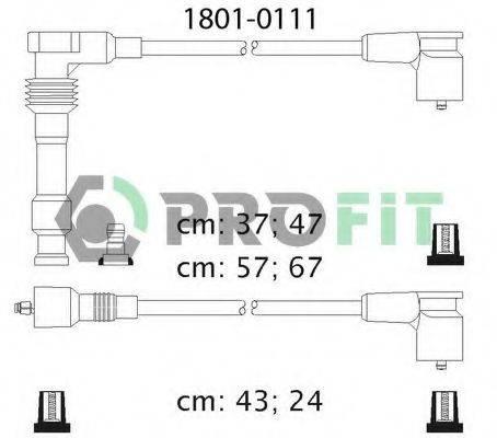 PROFIT 18010111 Комплект проводов зажигания