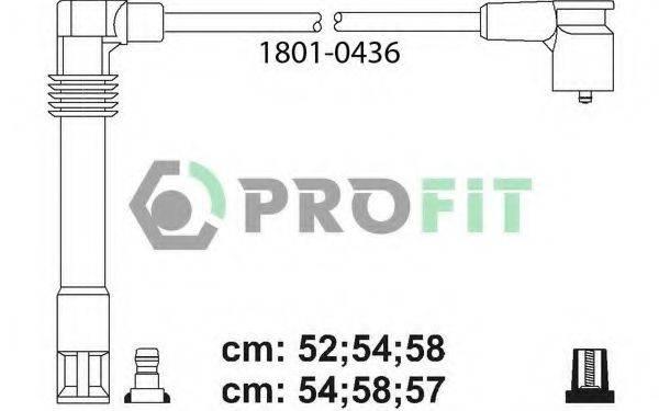 PROFIT 18010436 Комплект проводов зажигания