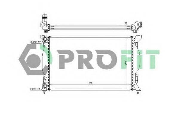 PROFIT PR0017A2 Радиатор, охлаждение двигателя