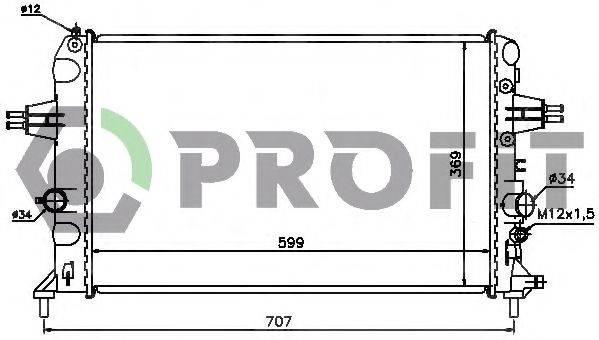 PROFIT PR5054A2 Радиатор, охлаждение двигателя