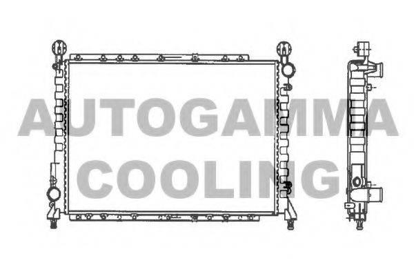 AUTOGAMMA 100012 Радиатор, охлаждение двигателя