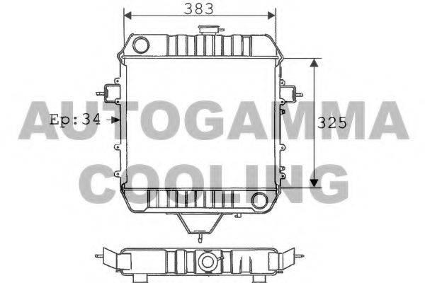 AUTOGAMMA 100713 Радиатор, охлаждение двигателя