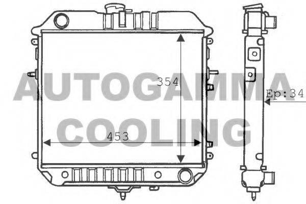 AUTOGAMMA 100717 Радиатор, охлаждение двигателя