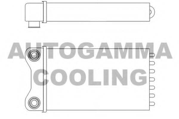 AUTOGAMMA 102987 Теплообменник, отопление салона