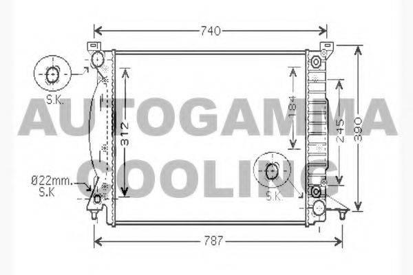 AUTOGAMMA 104603 Радиатор, охлаждение двигателя