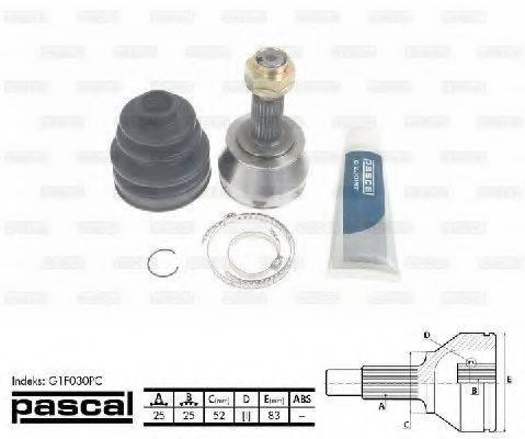 PASCAL G1F030PC Шарнирный комплект, приводной вал