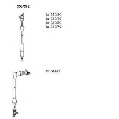 BREMI 300373 Комплект проводов зажигания