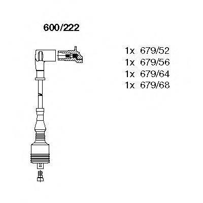 BREMI 600222 Комплект проводов зажигания